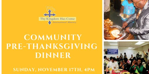 Community Pre-Thanksgiving Dinner