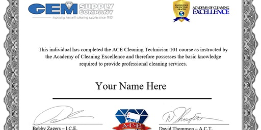 Cleaning Technician 101 * 2/25/20 * Lakeland