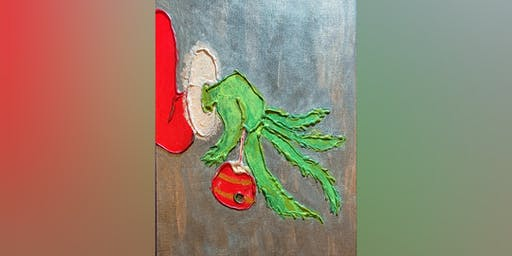 Metallic Grinch Painting Class
