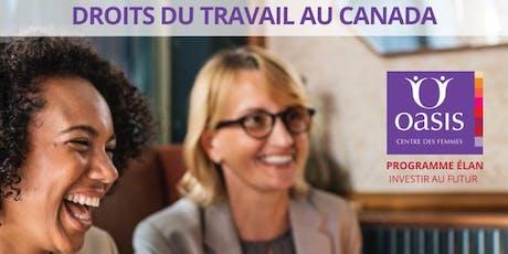 Droits du travail au Canada billets