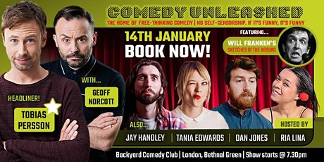 Tobias Persson & Geoff Norcott at Comedy Unleashed tickets