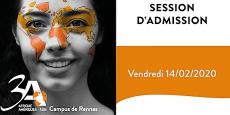 Session d'admission 3A Rennes 14/02/2020 billets