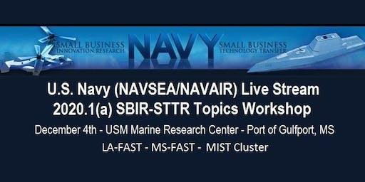 Navy Live Stream SBIR/STTR 2020.1(a) Topics Workshop