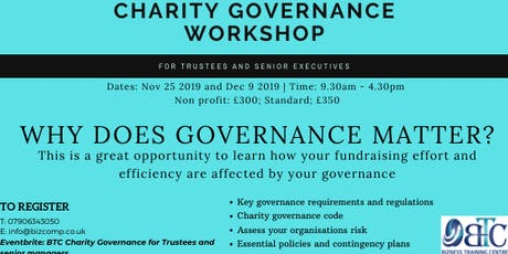 Charity Governance for Trustees and Senior Managers tickets