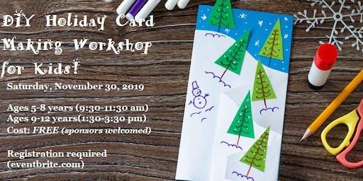 CSRA Girls Club DIY Holiday Card Making Workshop for Kids!