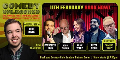 Nick Dixon & Konstantin Kisin at Comedy Unleashed tickets