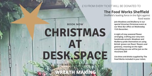 Victorian Christmas Wreath Workshop  in support of The Food Works