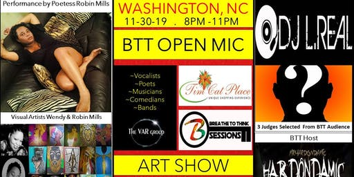 Tim Cat Place presents Breathe to Think Open Mic and Art Show