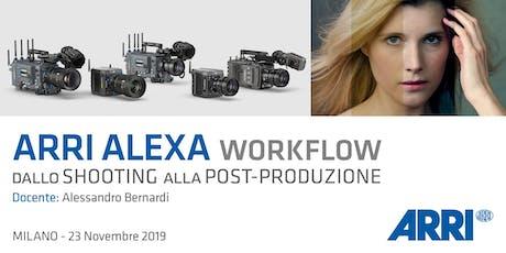 ARRI ALEXA Workflow: dallo shooting alla post-produzione biglietti