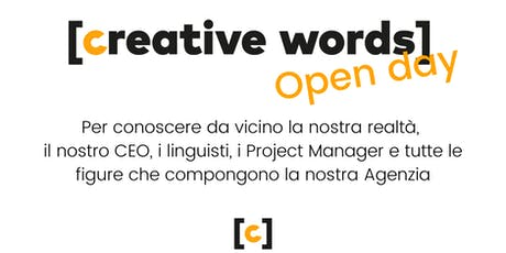 Open day at Creative Words biglietti