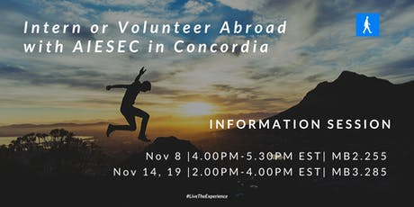 Intern or Volunteer Abroad with AIESEC in Concordia tickets