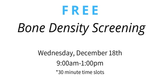 FREE Bone Density Screening
