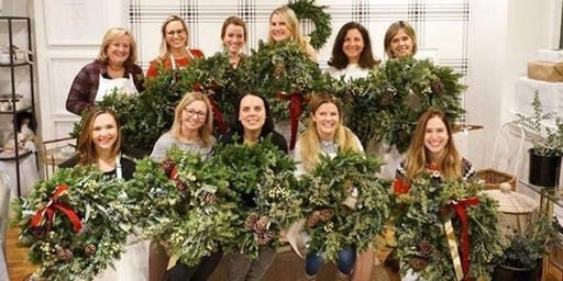 Ho Ho Holiday Wreaths at AR Workshop with Alice's Table