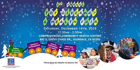 CCHC 4th Annual Toy Giveaway & Health Fair tickets