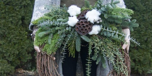 Winter Wreaths at Tin Bucket with Alice's Table
