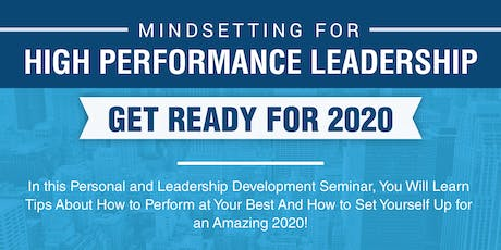 Mindsetting for High Performance Leadership tickets