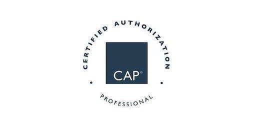 Burlington, VT| Certified Authorization Professional (CAP) Training, Includes Exam
