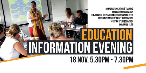 Education and Teacher Training  Information Evening