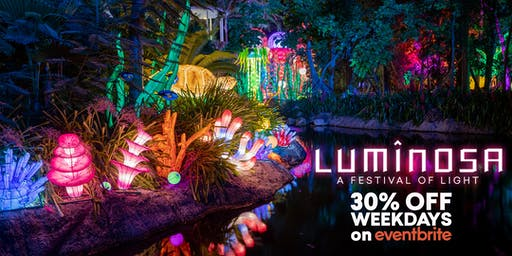 Luminosa: A Festival of Light (Weekday Tickets)
