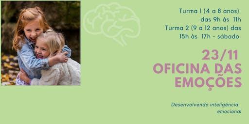 Oficina das Emoções - Para crianças de 4 a 12 anos