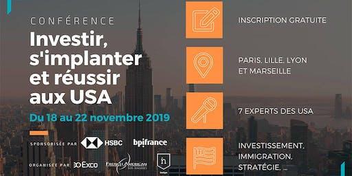 LYON • Conférences Novembre 2019 : S'implanter & Investir aux USA