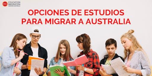 OPCIONES DE ESTUDIOS PARA MIGRAR AUSTRALIA