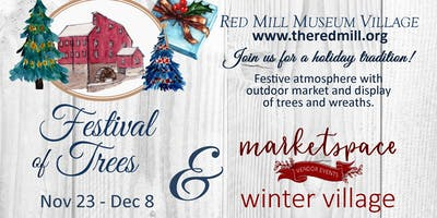Marketspace Winter Village at the Red Mill Museum