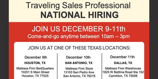 Traveling Sales - National Hiring Day: Texas