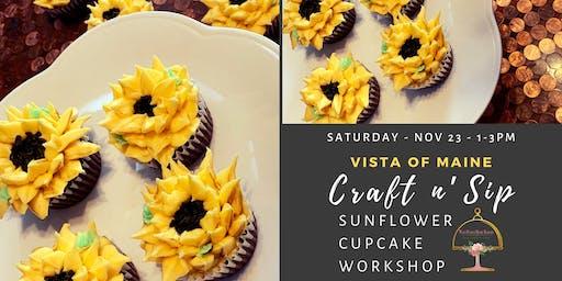 Craft & Sip Sunflower Cupcake Workshop