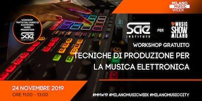 La produzione di musica elettronica - Workshop gratuito