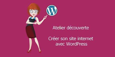 Atelier découverte - Créer son site internet avec WordPress billets
