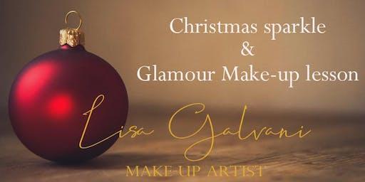 Look glamorous & sparkle - Christmas Make-up lesson with Lisa Galvani