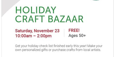 Holiday Craft Bazaar, FREE Admission, Vendor Spaces Available!