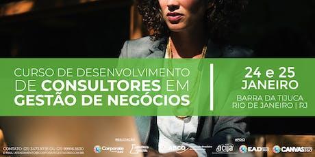 Curso de Desenvolvimento de Consultores em Gestão de Negócios ingressos