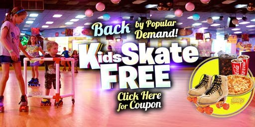 Kids 10 and Under Skate Free Saturday 11/23/19 at 10am (with this ticket)