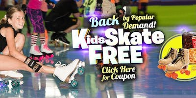 Kids Skate Free Saturday 11/23/19 at 10am (with this coupon)