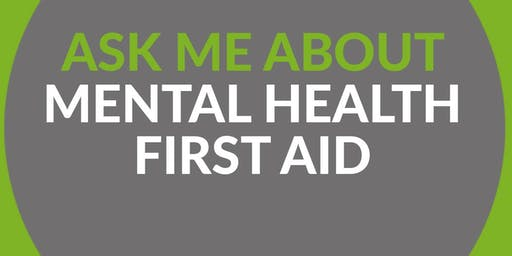 Mental Health First Aid (MHFA) Training - Adult Two Day Course (25th Nov & 2nd Dec)