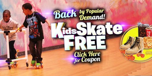 Kids Skate Free Sunday 11/24  at 3pm  (with this ticket)