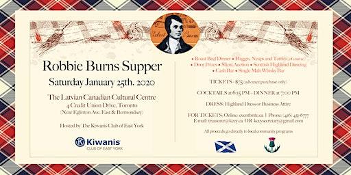 East York Kiwanis Robbie Burns Supper 2020