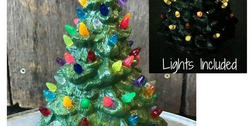 Ceramic Christmas Tree  w/ Lights