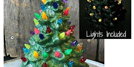 Ceramic Christmas Tree  w/ Lights