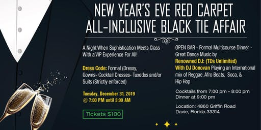New Year's Eve Red Carpet All-Inclusive Gala