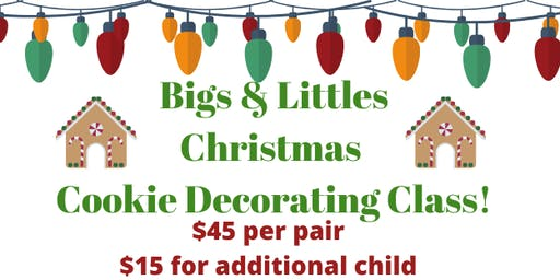 12.21 Bigs & Littles Christmas Cookie Decorating Class