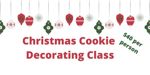 12/21 Christmas Cookie Decorating Class