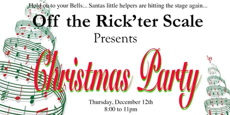 The Off the Rick'ter Scale Christmas Party tickets
