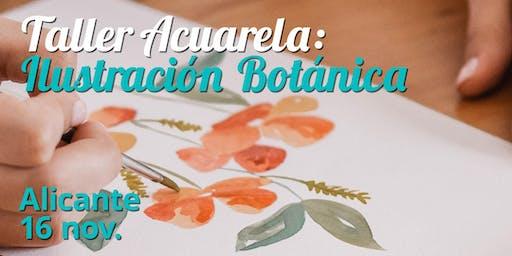 TALLER ACUARELA: ILUSTRACIÓN BOTÁNICA