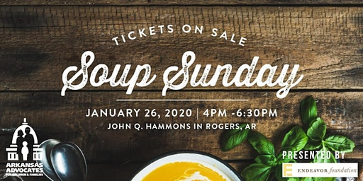 Arkansas Advocates 2020 Soup Sunday Northwest Arkansas