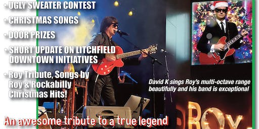 Litchfield Downtown Council, Inc. Christmas Gala, DAVID K as ROY ORBISON