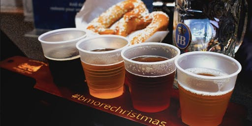 Christmas Village Beer Tasting in cooperation with Hofbräu Beers from Munich, Germany