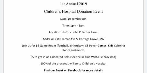 Children's Hospital Donation Drive